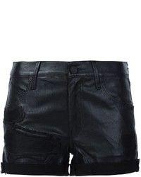 Pantalones Cortos de Cuero Negros de RtA