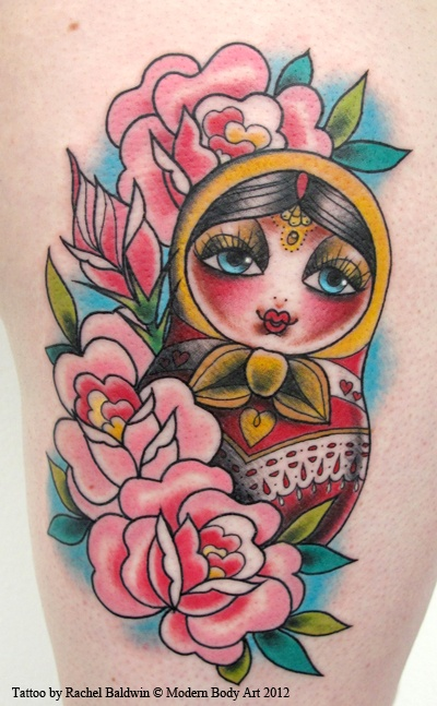 Love the feminine feel subtle background and how the for Russian style tattoo