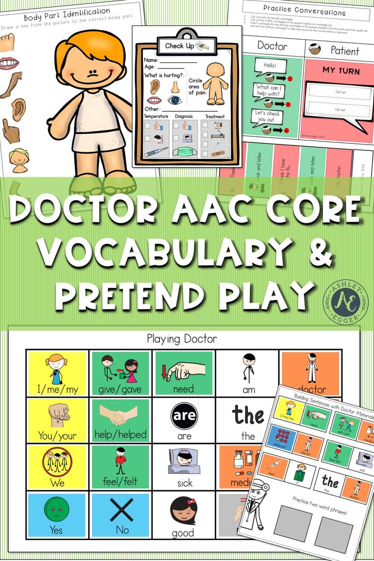 AAC Activity Doctor Dramatic Play Speech Therapy | Speech ...