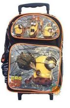 """Minions Movie Large 16"""""""" Rolling Cloth Backpack - """"""""Cro Minion"""""""""""