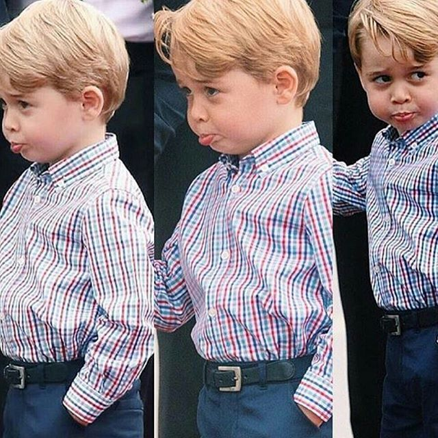 Prince George pulls funny faces!