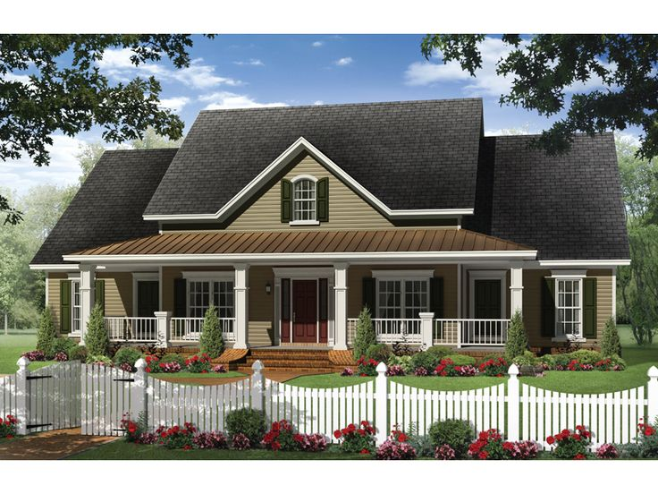 One story small country house plans for Beautiful farmhouse plans