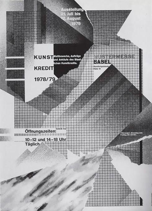 Wolfgang Weingart Poster Kunst Kredit 1979