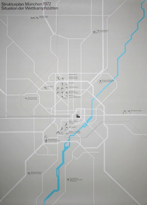 Olympic Games Munich / Games Map / Poster / 1972