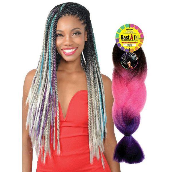 "Fashion Source Rasta Afri Highlight Jumbo Braid 50"" Synthetic Extensions"