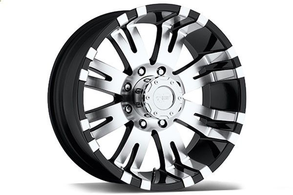 Pro Comp 8101 Black and Machined Wheels - Best Price on ProComp 8101 Black and Chrome Rims for Trucks