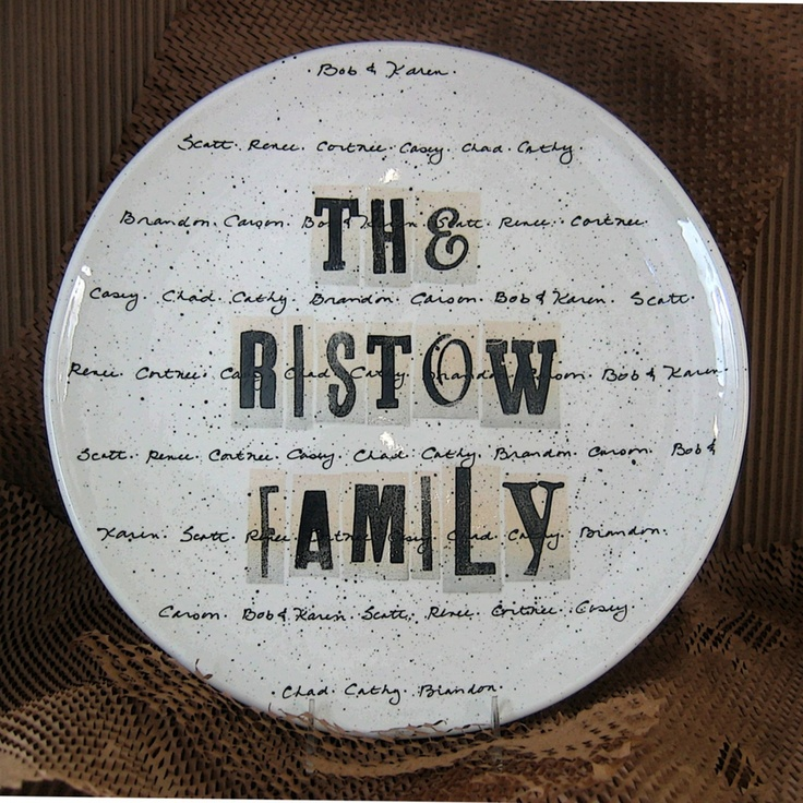 225 best inside museware pottery images on pinterest family cursive family name platter family namesfamily giftspersonalized negle Images