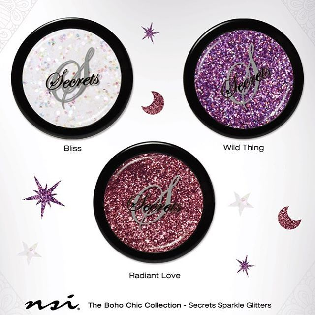 Bliss, Wild Thing, Radiant Love | Secrets Sparkle Glitters | NEW Boho Chic Collection from NSI