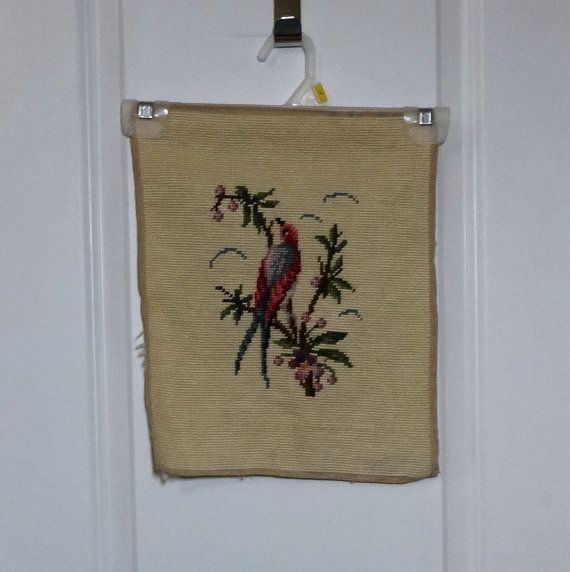 Vintage Preworked Needlepoint Canvas Tapestry by VictorianWardrobe, $14.00