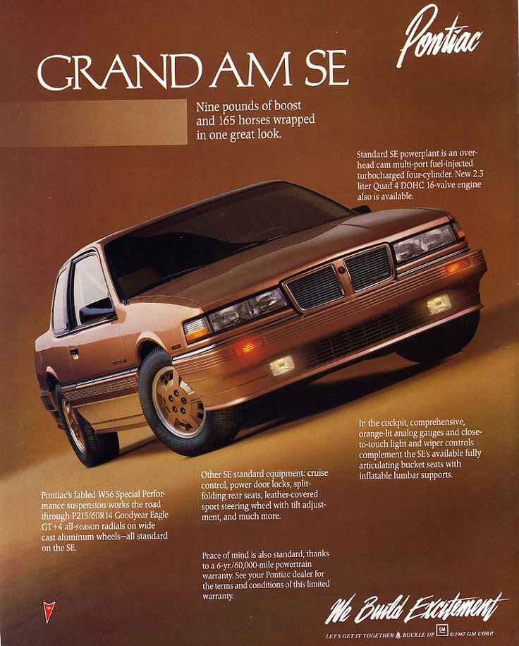 1988 Pontiac Grand Am SE Coupe - Productioncars.com