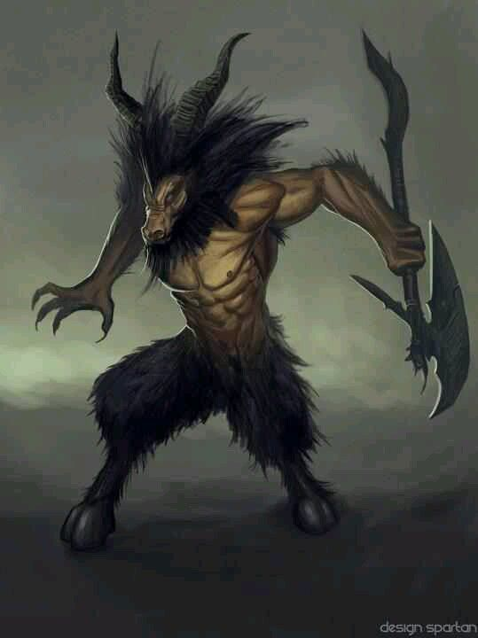 Minotaur is half human and half bull and is said to have lived at the center of a great labyrinth built for King Minos.