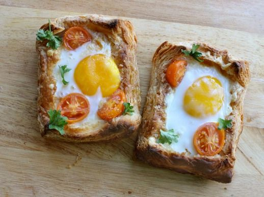 Puff Pastry Breakfast Egg Tarts