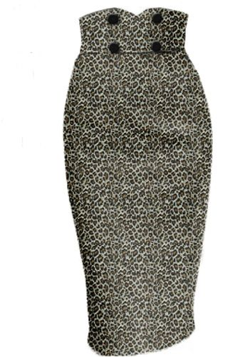 I need this!!! Leopard Rockabilly Wiggle skirt by Amber Middaugh --Save 37% at Chicstar.com coupon: AMBER37 #Retro #Vintage # Rockabilly