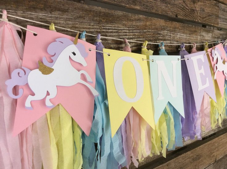 ONE Unicorn Party High Chair Banner - Unicorn Party, First Birthday, Rainbow Party, Photo Prop, Birthday Party by BlueOakCreations on Etsy https://www.etsy.com/listing/510023953/one-unicorn-party-high-chair-banner