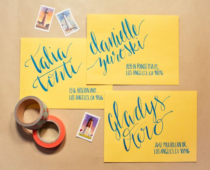 Hand lettered invitations by Blooming House Collective (http://bloominghousecollective.com)