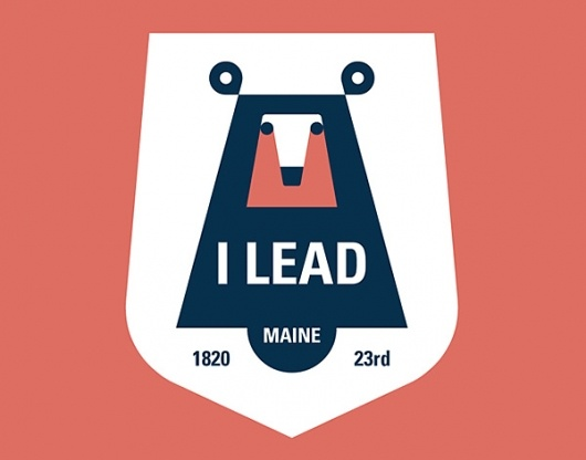 AbduzeedoGraphic Design, Badges, Design Projects, 50 States, Maine, Bears Logo, Graphics Design Inspiration, Art Prints, States Mottos