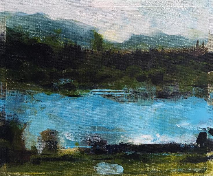 Wes Martin - Artist. Work in progress. Tarn Hows and Langdale Pikes. http://ift.tt/2rivMex May 15 2017 at 01:56PM
