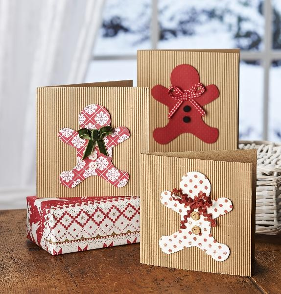 corrugated card and gingerbreadman