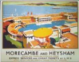 1930's LMS Morecambe and Heynsham Railway Poster A2 Reprint