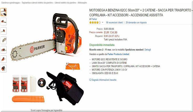 Utensili elettrici da giardino : Motoseghe Più Vendute/Apprezzate Su Amazon
