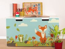 "Furniture sticker for IKEA STUVA ""Forest Friends"""