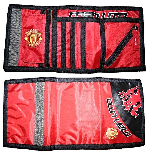 Manchester United Official MAN UTD Red Wallet with Red Devil Crest