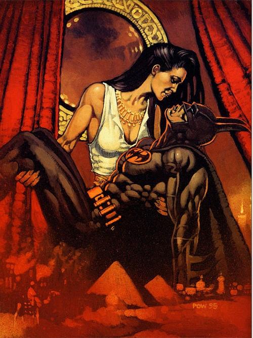 Talia al Ghul and Batman in a Lazarus Pit