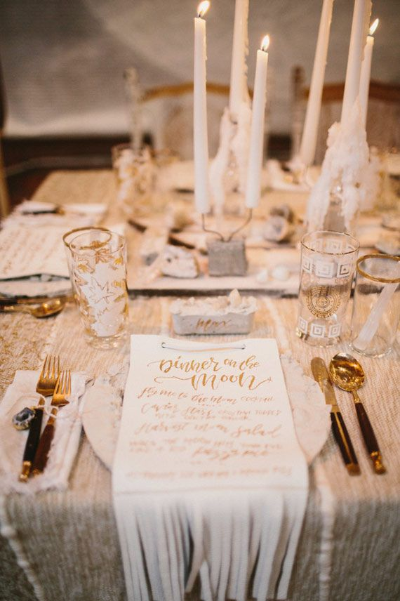 Fringed leather menu | The Cream Event 2015 | Photo by Yes Dear Photography