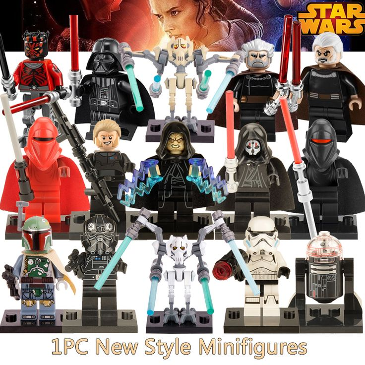 1PC Star Wars diy figures Black Shadow Stormtroopers Kallus R5D4 Robot Count Dooku Darth Vader Darth Maul Building Blocks Kids