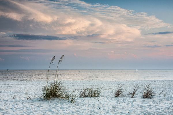 Late afternoon on the beach :: Biloxi, Mississippi.