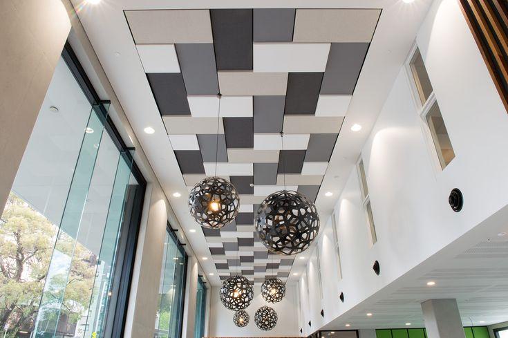 3D acoustic ceiling panels