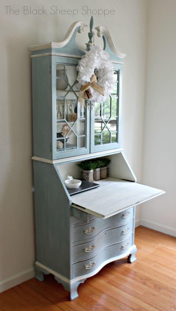 Secretary Desk With Hutch Makeover
