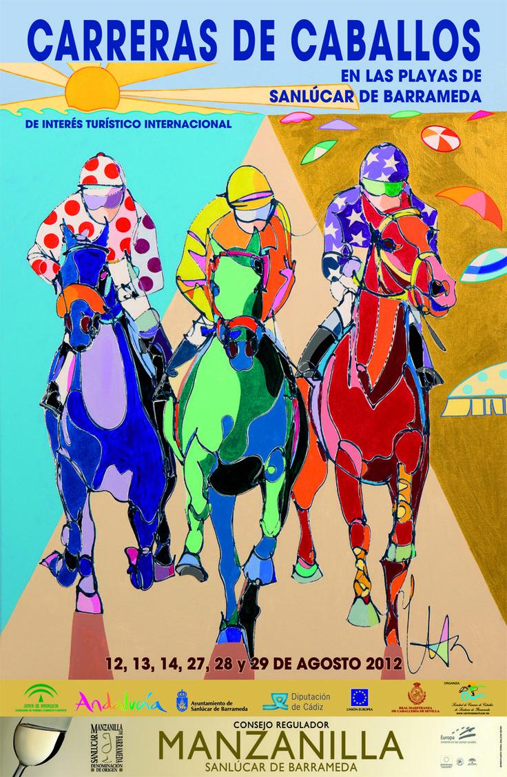 Carreras de Caballos de Sanlucar - cartel 2012