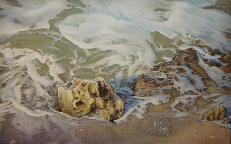 ,,The glass shell''-oil on canvas-80X50cm by artist Florentin Vesa