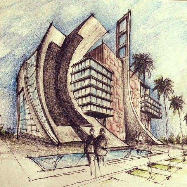 1363 best images about 3d hand drawn architectural on for Cheap architectural drawings