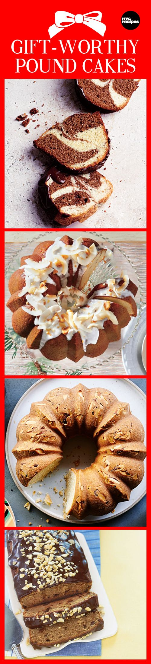 Gift-Worthy Pound Cakes | MyRecipes  A perfect pound cake makes a fantastic food gift for any occasion. Check out this collection of our best pound cake recipes to find one worthy of giving your friends and family — or for just enjoying yourself!