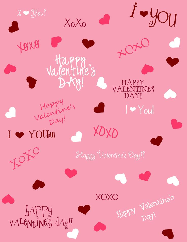happy valentines day text vector