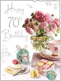 Happy 70th Birthday Greeting Card For Ladies Women Friend Quality