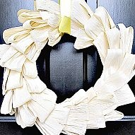 Don't be intimidated! A Corn Husk Wreath is easier to ma... Corn Husks aren't just for tamales folks! Once soaked, they are pliable and perfect for creating a simply elegant fall...