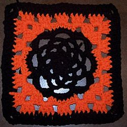 Free Easy Halloween Crochet Patterns : quick and easy halloween crocheting HALLOWEEN AFGHAN ...