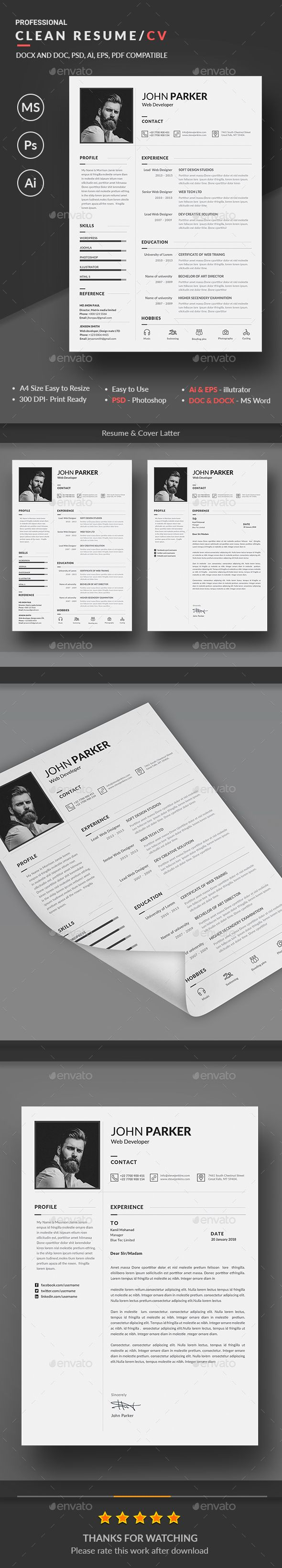 61 Best Ref CV Templates Images On Pinterest