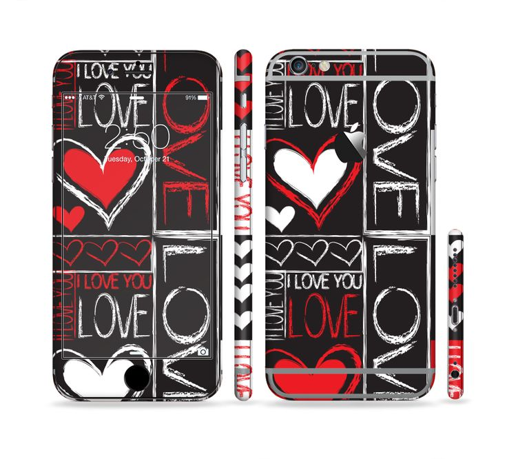 The Sketch Love Heart Collage Sectioned Skin Series for