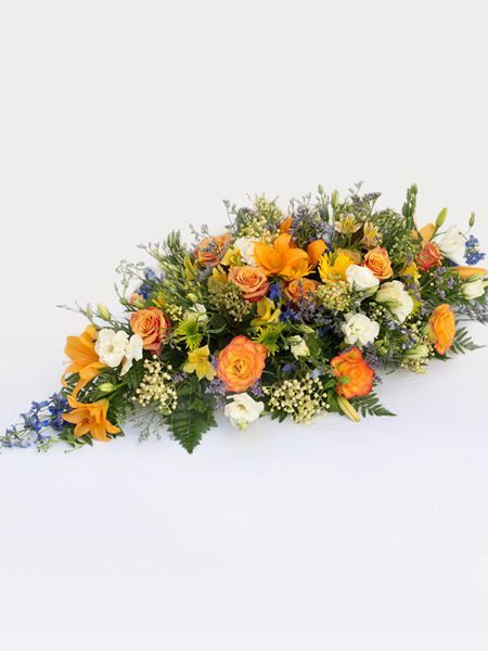 Multicoloured Coffin Arrangement