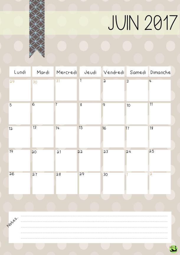 Les 25 meilleures id es de la cat gorie calendrier 2017 - Calendrier lunaire de juin 2017 ...