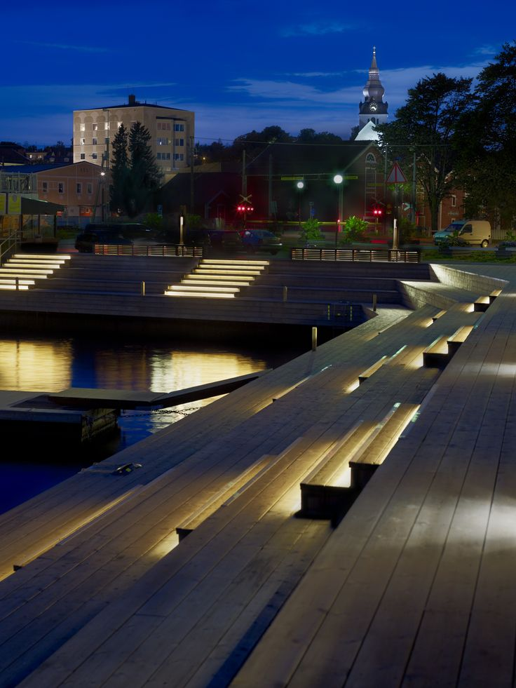 Solbryggor i Hudiksvall | Ljusarkitektur – Ljusdesign |Lighting design – Stockholm, Sweden