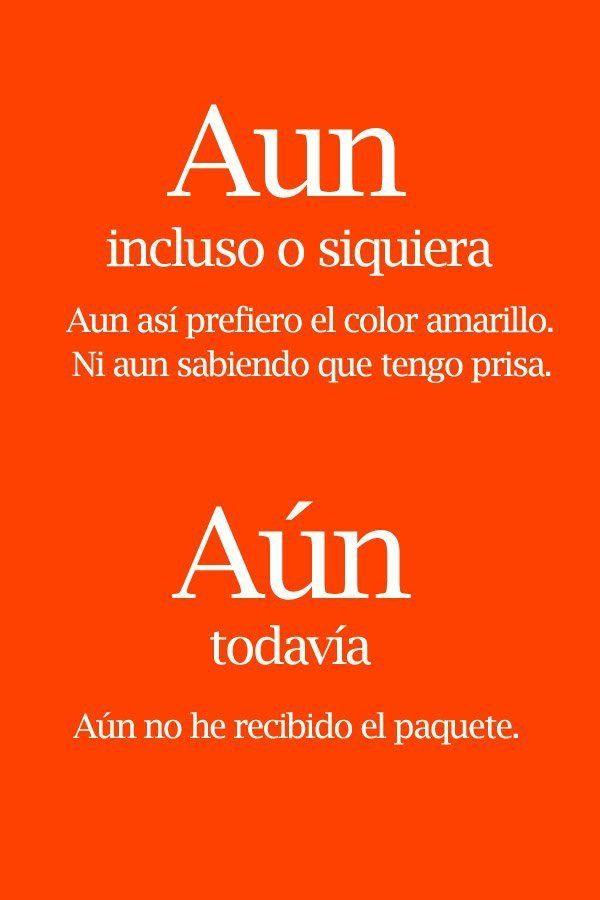 Aún/aun