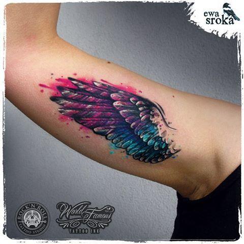 #ewasroka #wings #wingtattoo #girlytattoo #watercolortattoo #watercolourtattoo #watercolor #tattoo #tattooart #tattooartist #graphictattoo #worldfamousink @worldfamousink @rocknroll_tattoo_warszawa