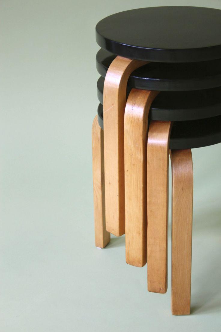 Stools designed by Alvar Aalto, c. 1935