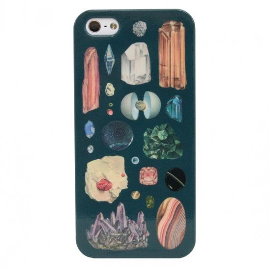 iPhone5/5S/SEケース「鉱石標本(ダークネイビー)」
