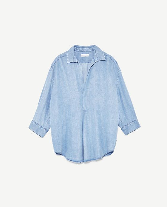 Image 8 of FLOWING V-NECK BLOUSE from Zara